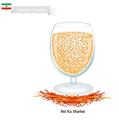 Bel Ka Sharbat A Popular Drink in Iran vector image