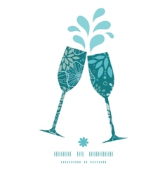 Blue and gray plants toasting wine glasses vector