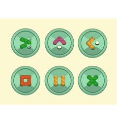 Buttons play vector