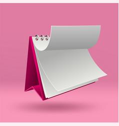 Calendar mockup on pink background vector