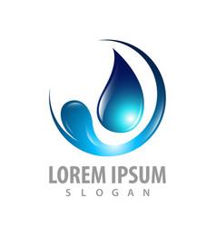 Circle water drop logo concept design symbol vector