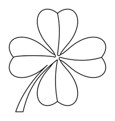 Clover leaf icon outline style vector