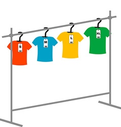 Coat hangers with tags vector