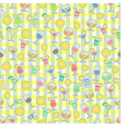 cocktails pattern vector image