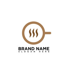 Coffee shop logo design template vector