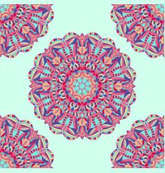 colorful ethnic mandala seamless pattern vector image