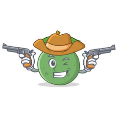 Cowboy guava character cartoon style vector