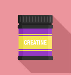 creatine sport nutrition icon flat style vector image