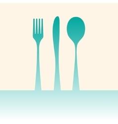 Cutlery shadow vector image