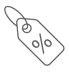 discount percent tag thin line icon e commerce vector image