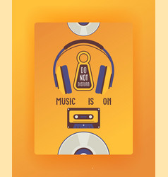 door hanger sign do not disturb tag on vector image