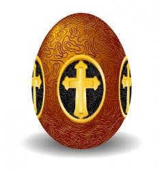 Easter gold egg vector