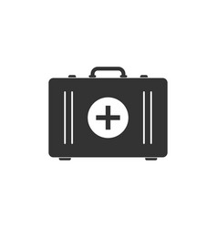 first aid kit icon isolated medical box with vector image