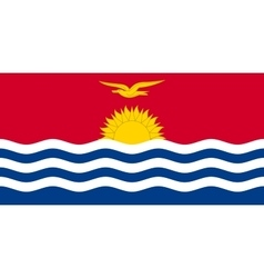 Flag of kiribati in correct size and color vector