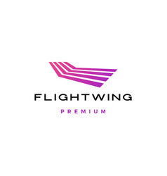 flight line wing stripes logo icon vector image