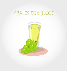 glass of bio fresh grapes juice vector image