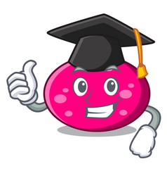 Graduation ellipse character cartoon style vector
