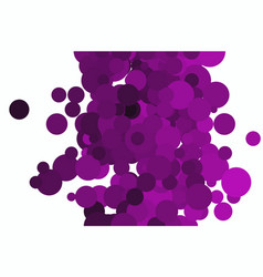 Graphic colored abstract overlapping circles vector