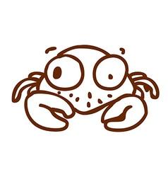 Hand Drawn Crab vector image