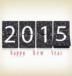 Happy New Year 2015 clock design vector