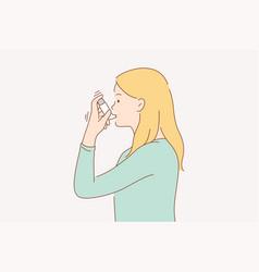 Health care desease problem asthma concept vector