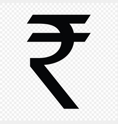 Indian rupee sign vector