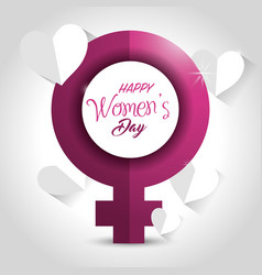 International women day card icon vector