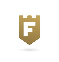 Letter F shield logo icon design template elements vector