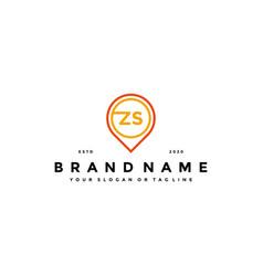 Letter zs pin logo design vector