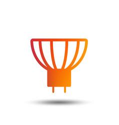 light bulb icon lamp gu53 socket symbol vector image