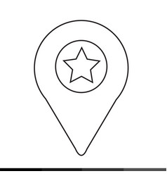 map pin icon design vector image
