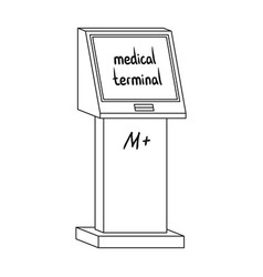 medical terminal terminals single icon in outline vector image