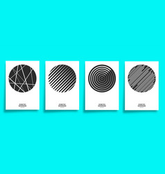 minimal geometric cover template set vector image