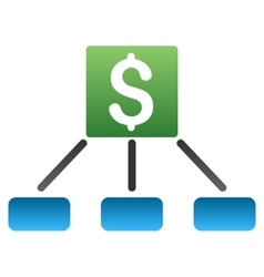Money Payment Hierarchy Gradient Icon vector