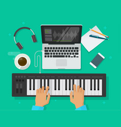 musician workspace studio vector image