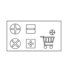 Online store icon outline style vector