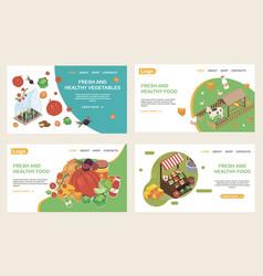 organic food websites set vector image