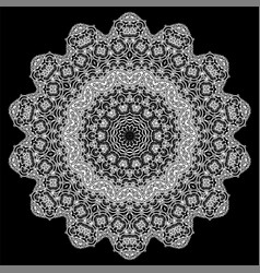 Ornamental line patter vector