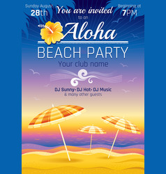Party invitation design for vector