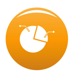 pie chart icon orange vector image