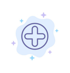 plus sign hospital medical blue icon on abstract vector image