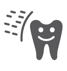 protected tooth glyph icon mouth and dental vector image