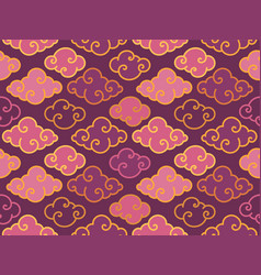 purple traditional oriental chinese clouds vector image