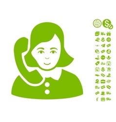 Receptionist Icon With Free Bonus vector