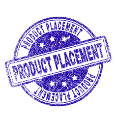 Scratched textured product placement stamp seal vector