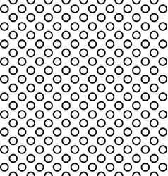 Seamless black and white ring pattern design vector image