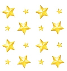 Seamless pattern with a gold star on a white vector