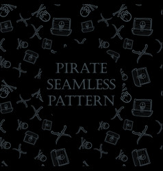 seamless pirate pattern vector image