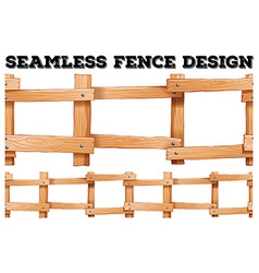 Seamless wooden fence design vector