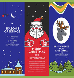 season greeting from santa claus winter holiday vector image